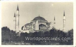 Aya Sofya Istanbul, Turkey Postcard Post Card, Kart Postal, Carte Postale,   ...