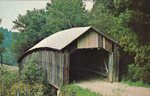 Geer's Mill Covered Bridge Over Raccoon Creek Wilksville Ohio