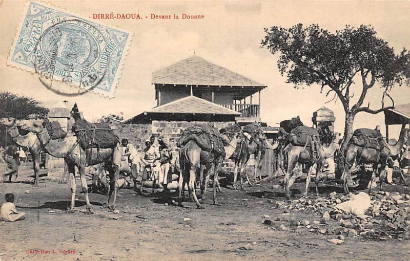 Ethiopia Dirre-Daoua, Dire Dawa, Devant la Douane, Camels 1913