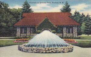 Fountain In Greeley Park Nashua New Hampshire
