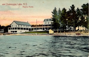 Chateaugay Lake, New York - A view of York Hotel - in 1912