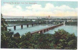 Bridges and Harrisburg as Seen from Fort Washington, Pennsylvania, PA, D?B