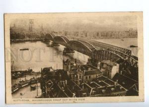 151614 Netherlands ROTTERDAM Maasbruggen BRIDGE From White OLD