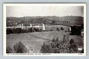 Milton KY- Kentucky, 1929 Milton-Madison Bridge Demolished 2011, Chrome Postcard