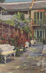 Louisiana New Orleans Courtyard In Vieux Carre Curteich