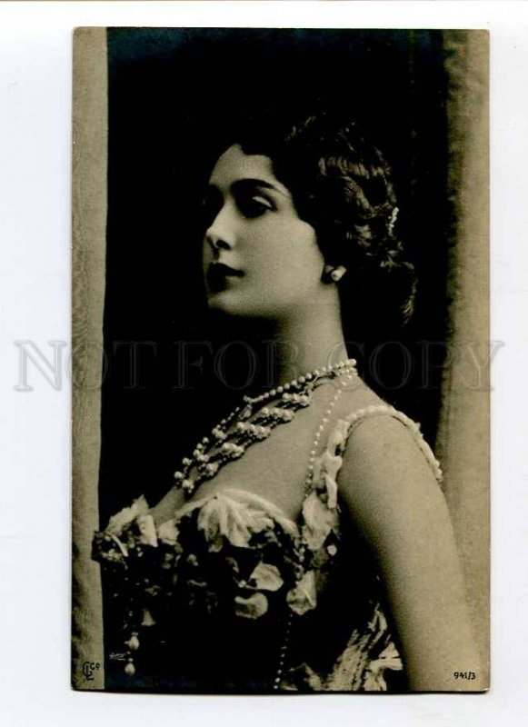 3027078 LA CAVALIERI Italian OPERA Star SINGER vintage PHOTO PC