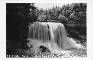 Tucker County West Virginia c1948 RPPC Real photo Postcard Blackwater Falls