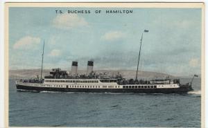 Shipping; TS Duchess Of Hamilton PPC By Dennis, 1965 PMK, To R Kingdon, Hatfield