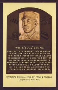 Wm B Buck Ewing Baseball Hall Fame Post Card 3277