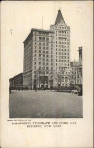 New York City Postal Telegraph & Home Life Bldg c1905 Postcard