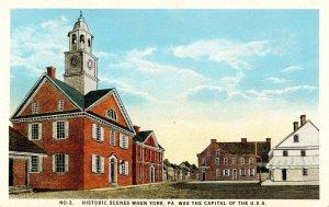 PA - York. Historic Scenes When York was USA Capital  No.2