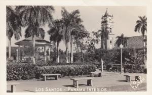 RP: LOS SANTOS, Panama, 1930-1950s; Interior Court, Gazeebo
