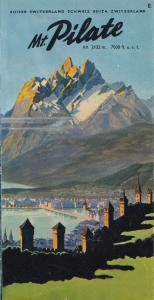 Mount Pilate Pilatus Mountain Switzerland 1950s Guide