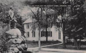 Minute Man and Buckman Tavern, Lexington, Massachusetts, Early Postcard, Unused