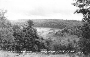 RPPC Scenic Overlook Back Bone State Park Strawberry Point Iowa Vintage Postcard