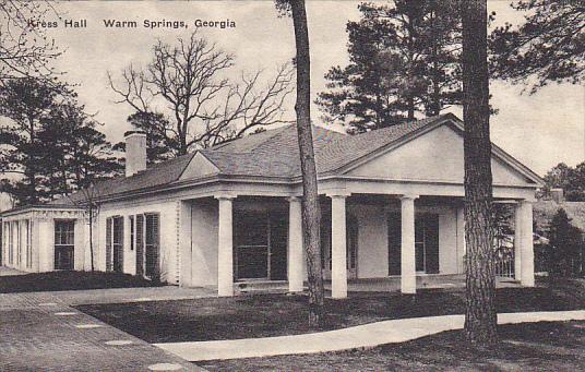 Kress Hall Warm Springs Georgia Albertype