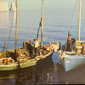 Perce Quebec Gaspé Peninsula Canada Fishing Boats Water View Unposted