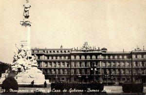 Argentino Buenos Aires TMonumento a Colon y Casa de Gobierno
