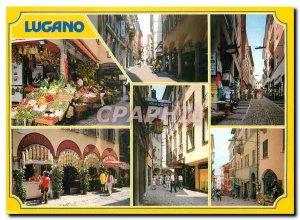 Modern Postcard Lugano Via Pessina Via Via Nasaa Cathedral