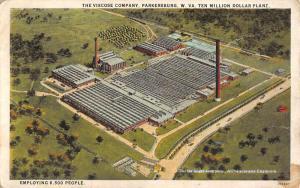 Parkersburg West Virginia Viscose Co Birdseye View Antique Postcard K83236
