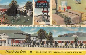 Roanoke Virginia Plaza Motor Court Multiview Antique Postcard K30833