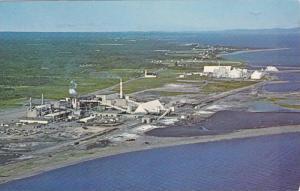 Bird's-eye view of Smelter & Fertilizer Plant,  Bathurst,  N.B.,  Canada,  PU...