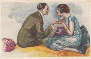 Art Deco ; BOMPARD ; Romance Couple , 1910-20s