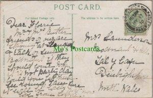 Genealogy Postcard - Saunderson? - Bodnant Hall, Tal-y-cafn, Colwyn Bay RF7058