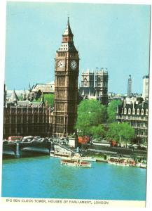 UK, Big Ben Clock Tower, Houses of Parliament, London, unused Postcard