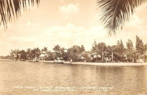 Fort Lauderdale Florida Lago Karen Cottage Apartments Real Photo Postcard KK314