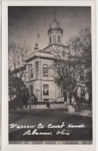 Ohio Postcard c'50 LEBANON Warren County Court House Building Real Photo RPPC #3