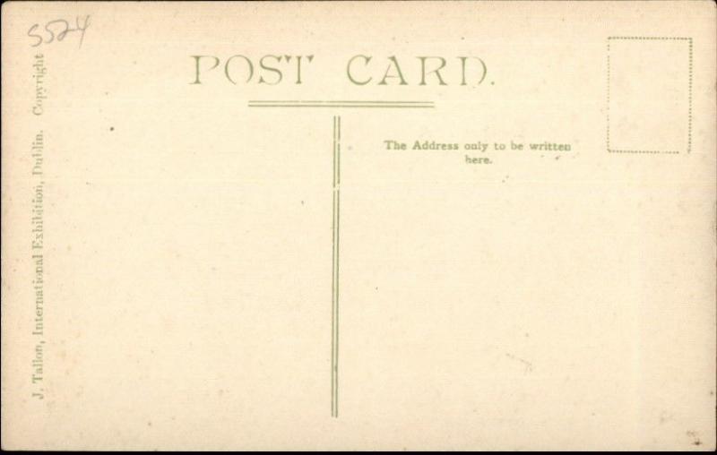 1907 Irish International Exhibition Amusement Ride Dublin Postcard