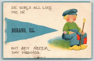 De Girls All Like Me in Durand Illinois~But Never Say Nodings~c1910 Pennant PC
