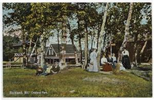 Rockland, Maine, Early View at Oakland Park, 1910