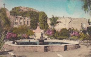 Old Fountain Front Garden Old Mission San Juan Capistrano California Handcolo...