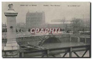 Old Postcard Paris Crue of the Seine January 1910 Flood Bridge Morland