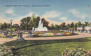 Indiana Indianapolis Garfield Park With Fountain