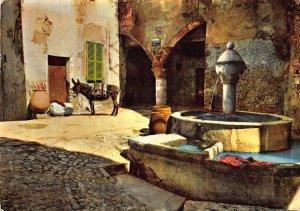 France Provence Cote d'Azur Scene Typique de l'Arriere Pays Fountain Postcard
