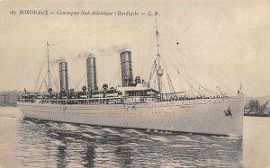 Burdigala Compagmie De Navigation Sud Atlantique Ship Unused