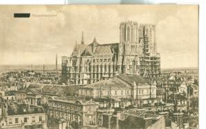 France, Reims, Gesamtansicht, early 1900s used Postcard