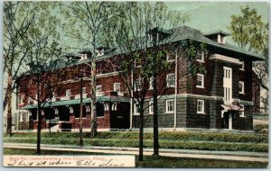 OHIO UNIVERSITY Postcard Boyd Hall, Ladies Dormitory ATHENS OH Cancel 1909