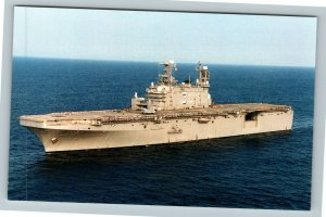 USS Belleau Wood LHA-3 Chrome Postcard