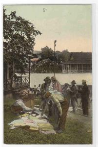 Open Air Store Street Seller Canal Zone Panama 1910c postcard