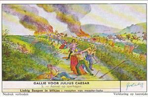 Liebig Trade Card s1712 Gaul Before Julius Caeser No 5 Aanval op sperhagen