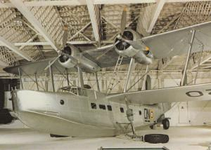 Vickers Submarine Stranraer Museum Exhibit WW2 War Plane Postcard