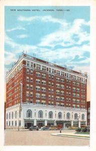 Jackson Tennessee New Southern Hotel Street View Antique Postcard K431955