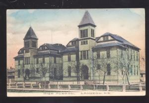 LANGDON NORTH DAKOTA HIGH SCHOOL BUILDING VINTAGE POSTCARD N.D.