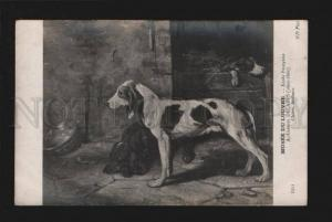 076333 Charming Dogs Hounds Dog by DECAMPS vintage PC
