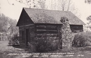 RP; Near FAIRBURY, Nebraska, 1910-1920's; Log Cabin From Old Stage Station On...