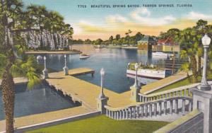 Florida Tarpon Springs Beautiful Spring Bayou 1953